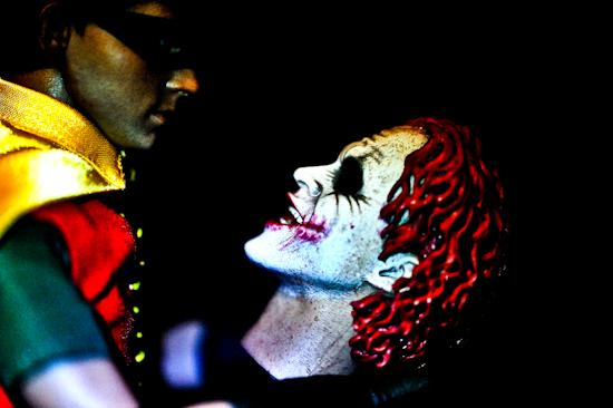 Robin (looking at Joker head) by Brett Howard Sproul