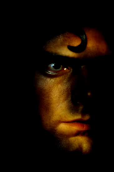 Superman (face right, crescent light) by Brett Howard Sproul