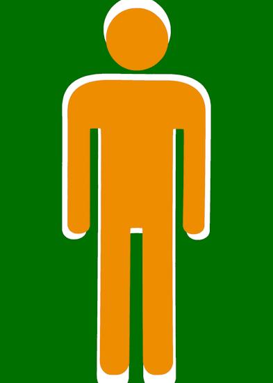 Bathroom Man (orange green)