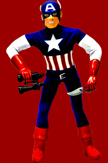 Captain America (binoculars red)