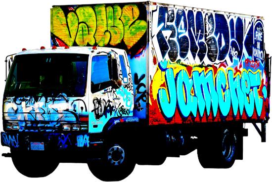 Graffiti Truck - Mitsubishi 'Cairo' by Brett Howard Sproul.