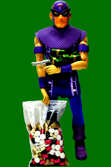 Hawkeye (pills green)