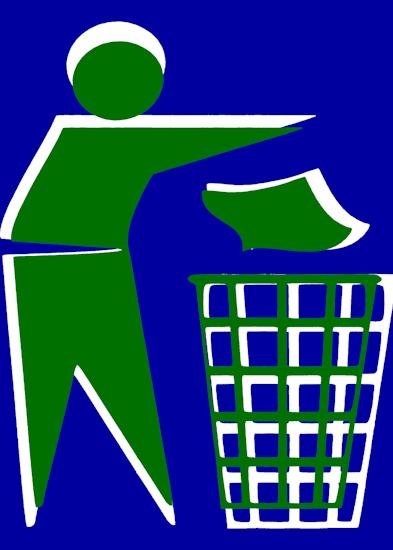 Rubbish Man (green blue)