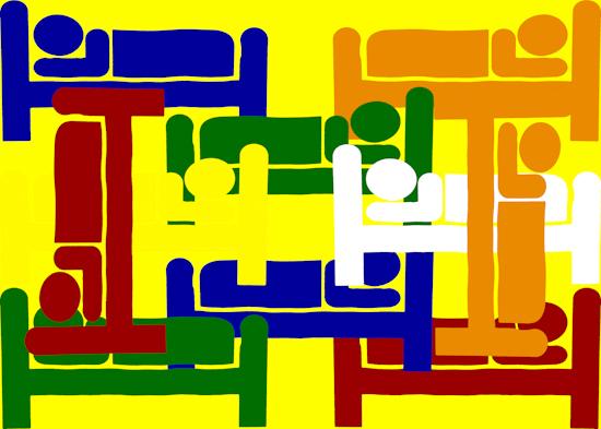 Sleeping Men (yellow)