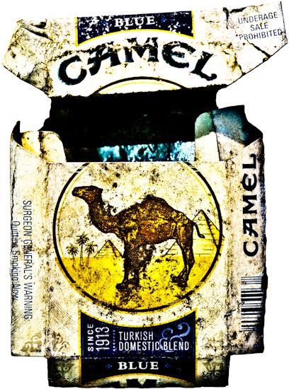 Camel Cigarette Pack (blue) by Brett Howard Sproul.