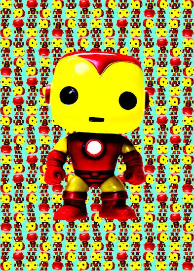 Iron-Man (Pop bobble-head aqua) by Brett Howard Sproul