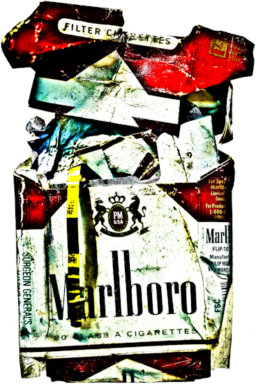 Marlboro Box (mangled with pull-tab)