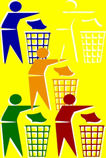 Rubbish Men (five yellow)