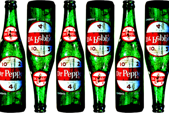 Dr Pepper Bottles - 1960's by Brett Howard Sproul.