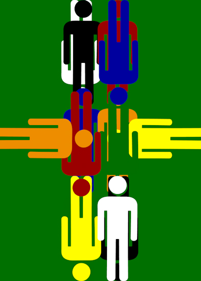 Bathroom Men (vert middle green) by Brett Howard Sproul