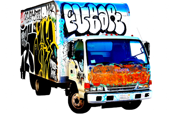 Graffiti Truck - GMC by Brett Howard Sproul