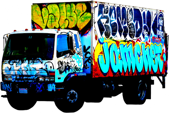 Graffiti Truck - Mitsubishi 'Cairo' by Brett Howard Sproul