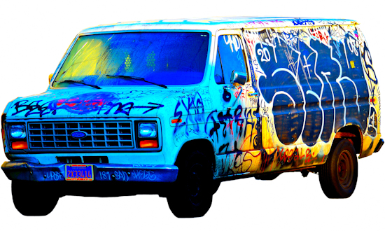 Graffiti Van - Ford by Brett Howard Sproul.