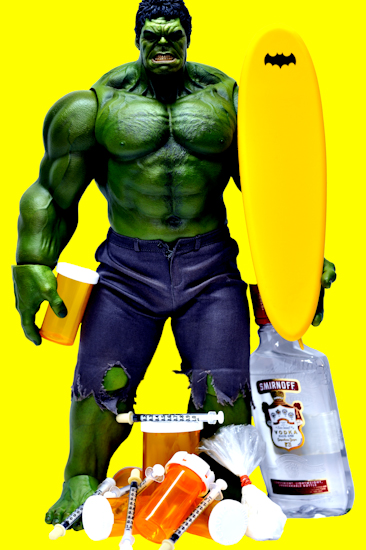 Hulk (surfboard yellow) by Brett Howard Sproul.