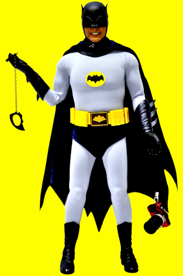 Batman (AW bat-cuffs camera yellow) by Brett Howard Sproul.
