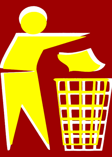 Rubbish Man (yellow red) by Brett Howard Sproul