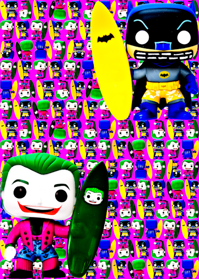 Batman Joker Surfers (Batman Surfer Pop vinyl pink)