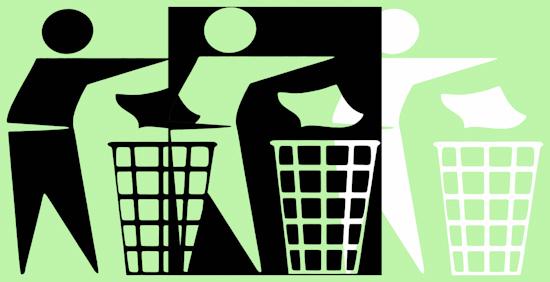 Rubbish Men (bw bnw pastel green)