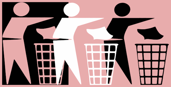 Rubbish Men (bw nwb pastel rose) by Brett Howard Sproul