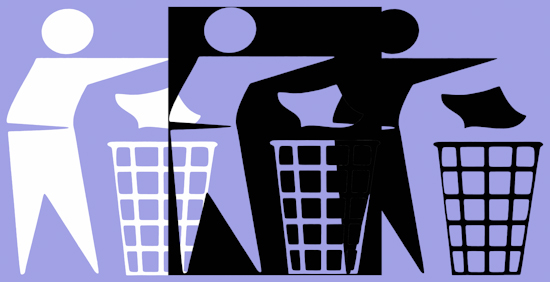 Rubbish Men (bw wnb pastel purple) by Brett Howard Sproul