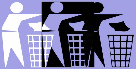 Rubbish Men (bw wnb pastel purple) by Brett Howard Sproul