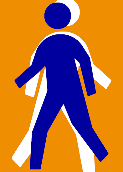 Running Man (blue orange) by Brett Howard Sproul