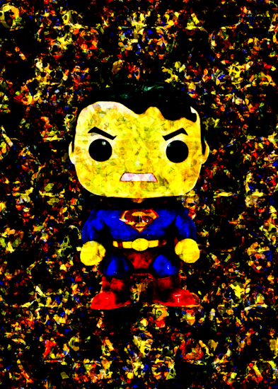 Superman (DKR Pop vinyl) by Brett Howard Sproul