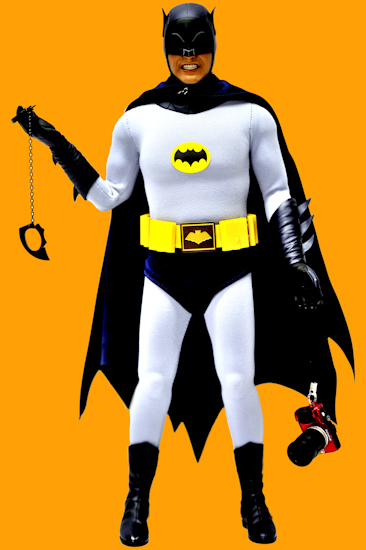 Batman (AW bat-cuffs camera orange) by Brett Howard Sproul