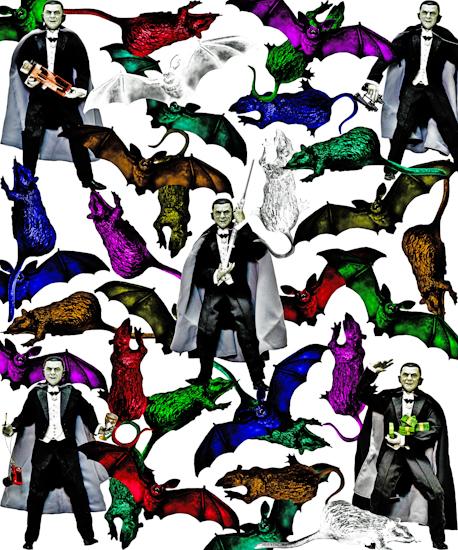 Bela Lugosi (Dracula w bats & rats) by Brett Howard Sproul