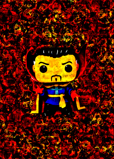 Dr Strange (Pop bobble-head) by Brett Howard Sproul