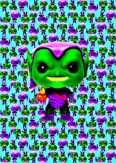Green Goblin (Pop bobble-head aqua) by Brett Howard Sproul