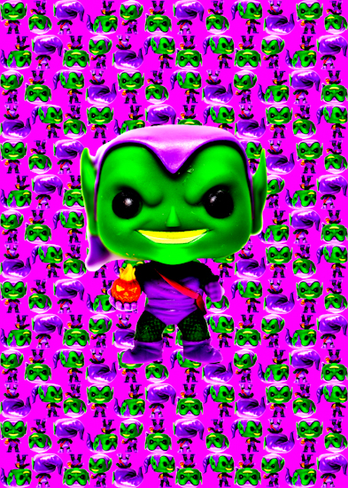 Green Goblin (Pop bobble-head pink) by Brett Howard Sproul