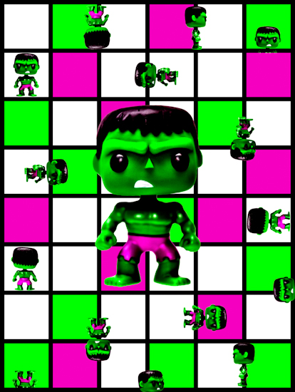 Hulk (Pop bobble-head) by Brett Howard Sproul.