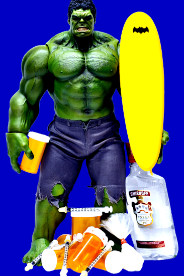 Hulk (surfboard blue) by Brett Howard Sproul