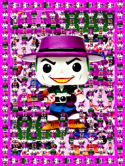 Joker (Pop vinyl Killing Joke pink) by Brett Howard Sproul.
