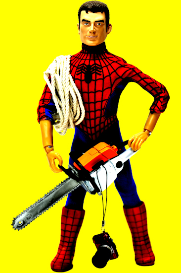 Peter Parker (chainsaw yellow) by Brett Howard Sproul
