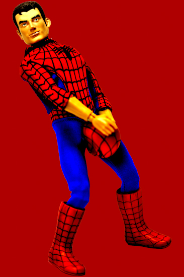 Peter Parker (mask crotch red) by Brett Howard Sproul