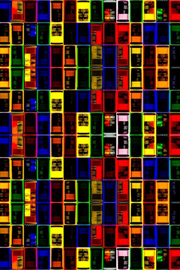 Pill Bottles (color grid) by Brett Howard Sproul