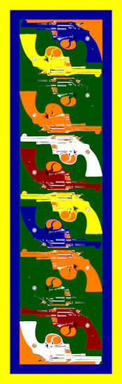 Pistols (vertical green) by Brett Howard Sproul