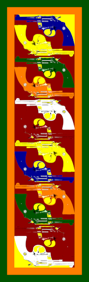 Pistols (vertical red) by Brett Howard Sproul