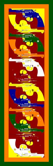 Pistols (vertical red) by Brett Howard Sproul