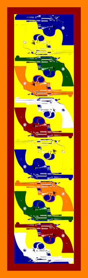 Pistols (vertical yellow) by Brett Howard Sproul