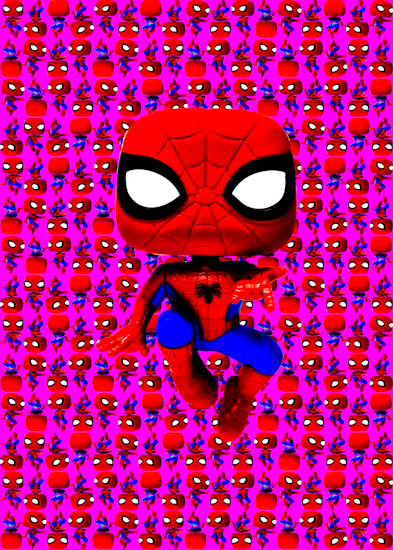 Spider-Man (Pop bobble-head pink) by Brett Howard Sproul