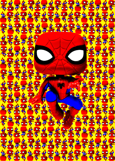 Spider-Man (Pop bobble-head yellow) by Brett Howard Sproul