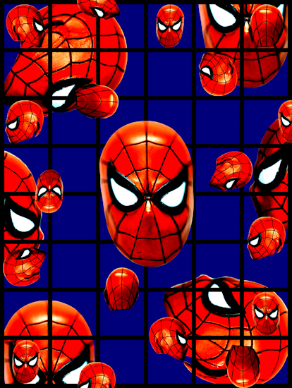 Spider-Man (head red blue) by Brett Howard Sproul