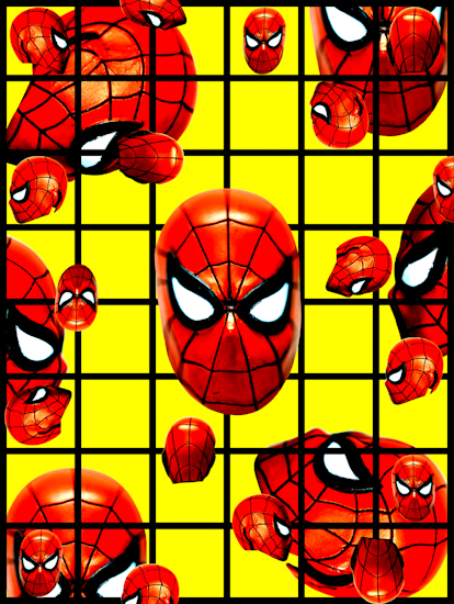 Spider-Man (head red yellow) by Brett Howard Sproul.