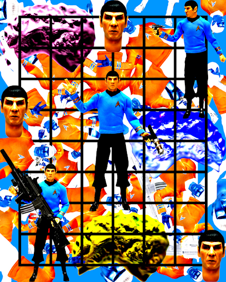 Spock (classic grid) by Brett Howard Sproul