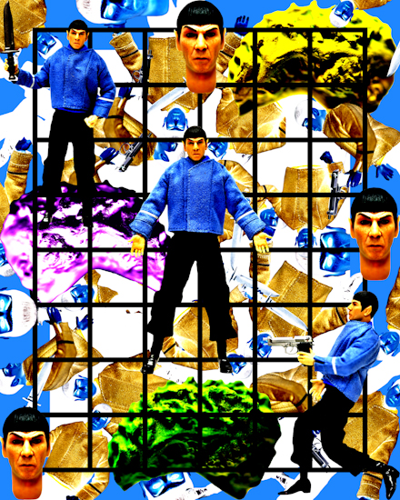 Spock (pilot w arched brows grid) by Brett Howard Sproul